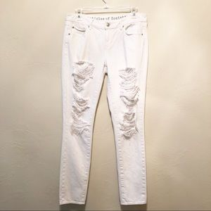 Articles of Society White Distressed Skinny Jeans